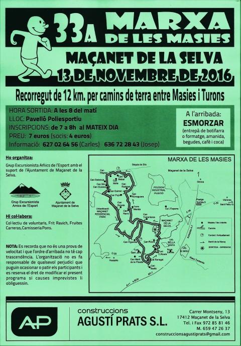 33ª Marxa Popular de les Masies