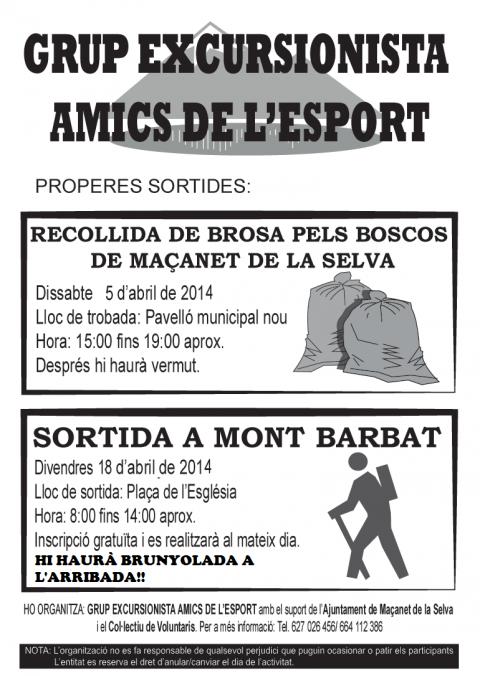 Recollida de brossa pels boscos de Maçanet (2014)
